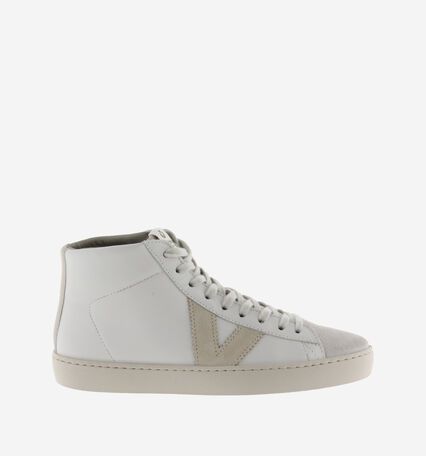 BERLIN CONTRAST LEATHER TRAINER